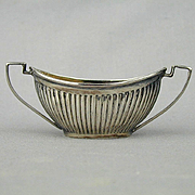 Antique English Sterling Silver Miniature Open Salt Boat Cup