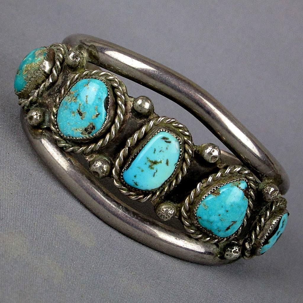 mens navajo sterling silver turquoise cuff bracelet from. Black Bedroom Furniture Sets. Home Design Ideas