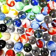 Lot of 200 Vintage Marbles Aggies Cateye & Solid