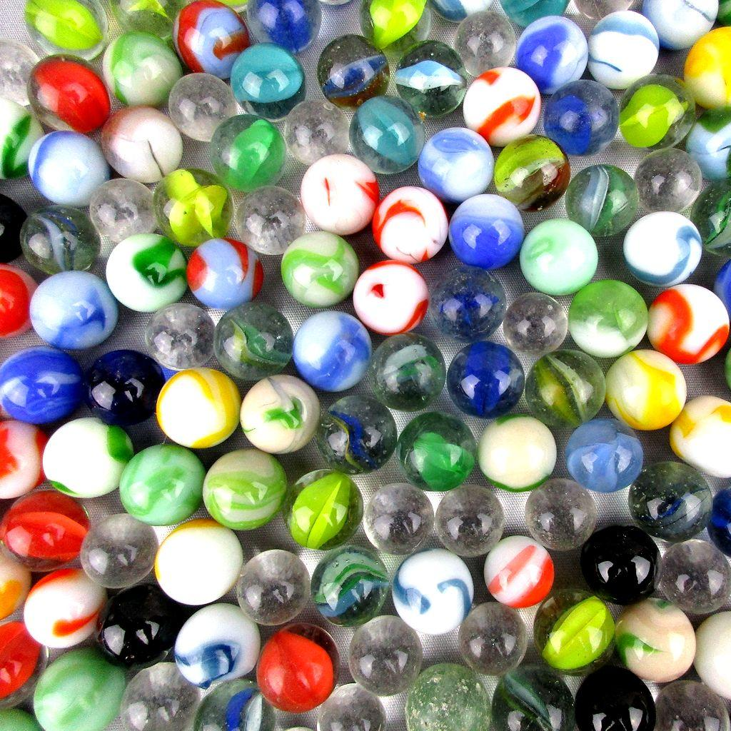 Lot Of 200 Vintage Marbles Aggies Cateye Amp Solid From
