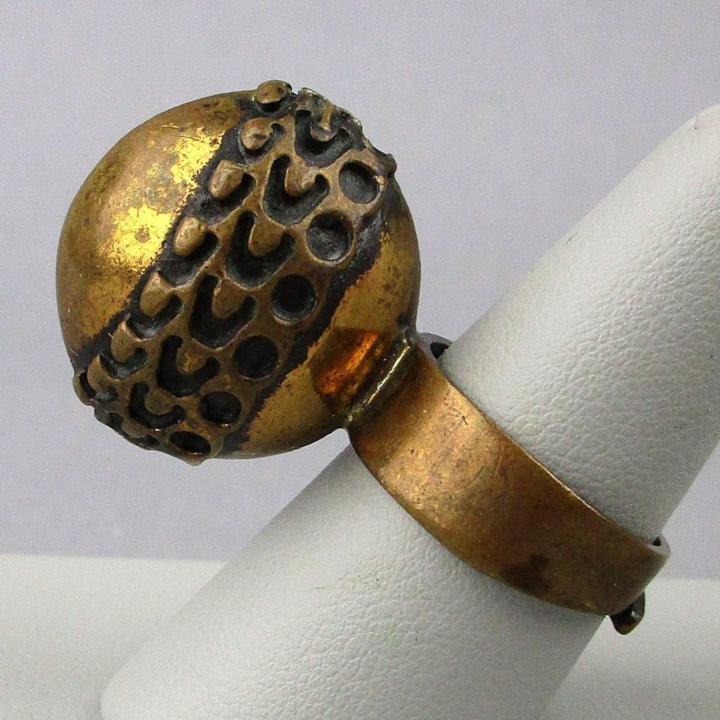 Modernist Bronze Ring Pentti Sarpaneva Finland Weird Wonderful