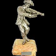 Sterling Silver Isaac Jeheskel Jewish FIDDLER Figurine 925 Judaica Statue