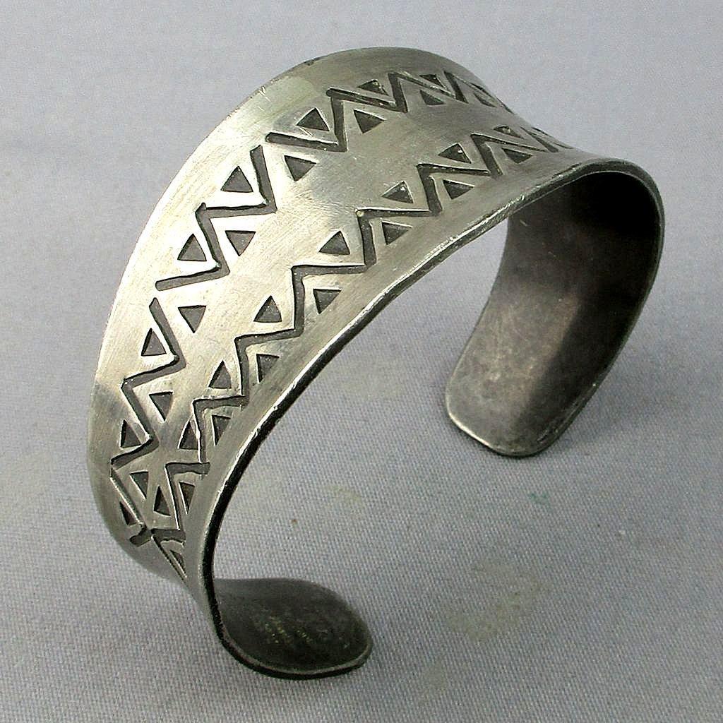 Vintage Jyde Kunst Denmark Modernist Pewter Cuff Bracelet
