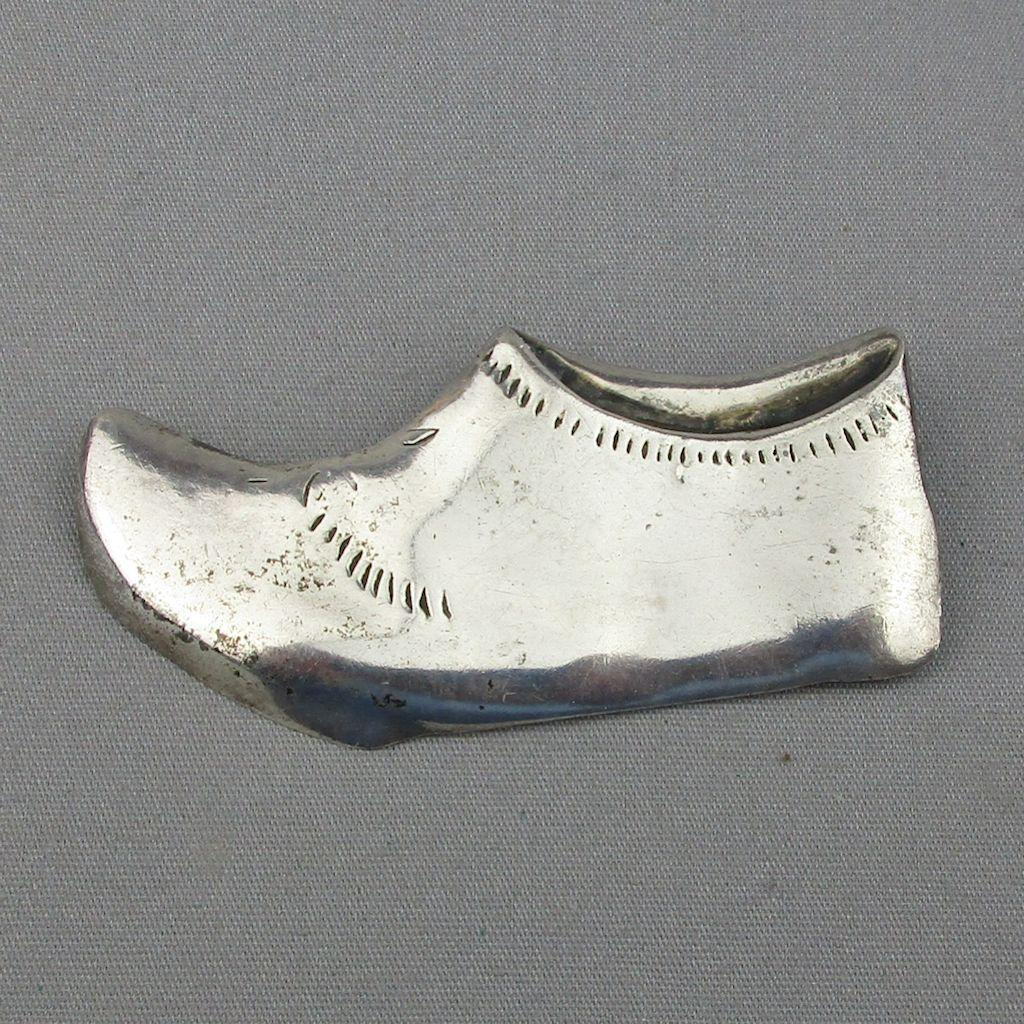 Big Old Sterling Silver Shoe Pin Brooch - Hand Made
