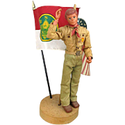 Vintage 1974 Kenner  ~ Steve ~ Boy Scout Action Doll BSA w/ Flags