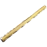 Early Art Deco Era 10K Gold Bar Pin Collar Brooch
