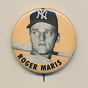 Orig. Vintage 1960s ROGER MARIS Pin Pinback Button Baseball