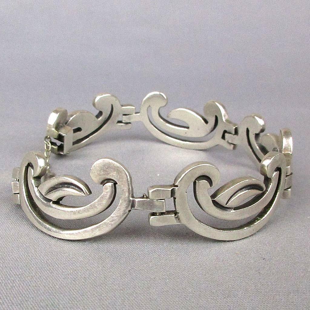 Vintage Taxco Sterling Silver 925 Link Bracelet Signed