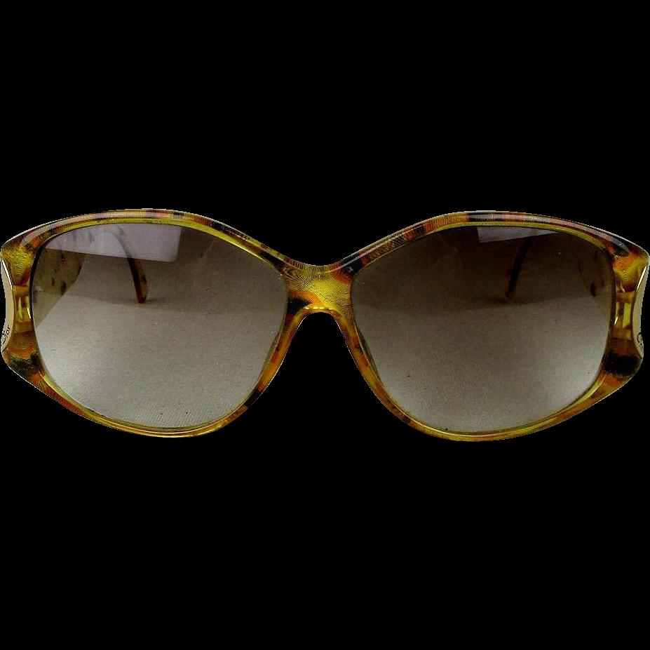 Vintage Dior Eyeglass Frames : Vintage Christian Dior Eyeglasses Oversized Leopard Frame ...