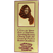 Orig. 1920s GOURAUD'S Advertising Sign - Oriental Hair Shampoo