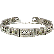 Art Deco Era E.B. Engel Bros. Faux Diamond Bracelet