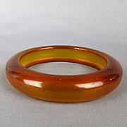 Vintage Bakelite Applejuice Bangle Bracelet
