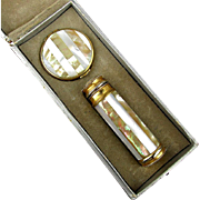 French Art Deco 1920s LE KID Atomizer Perfume Bottle / Pill Box in Orig. Case