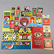 Set of 1930s VALMOR Ethnic Beauty Product Labels - Black Americana - Great Litho Graphics