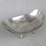 Modernist Mexican Sterling Silver Abstract Footed Bowl - Juventino Lopez Reyes