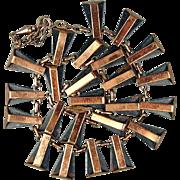 Vintage Modernist RENOIR Copper Necklace
