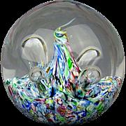 Caithness Rainbow Moonflower Glass Paperweight Scotland Colin Terris