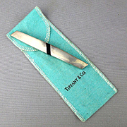 Vintage Tiffany & Co. Sterling Silver Letter Opener Paper Cutter