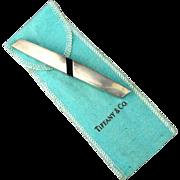 Vintage Tiffany & Co. Sterling Silver Letter Opener Paper Cutter