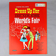 Official 1964 Dress Up For The New York WORLD'S FAIR Paper Dolls Cutout Book Uncut