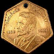 Old Theodore Roosevelt Token Fob Medal - Sagamore Hill L.I. N.Y.