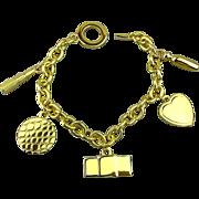 Vintage Estee Lauder Charm Bracelet