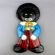 Vintage Big Ceramic GOLLIWOG Wall Plaque Figurine