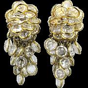 Vintage 1980s Sorrelli Austrian Crystal Dangle Earrings