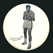Original 1964 Muhammad Ali Cassius Clay Large Photo Pin Boxing