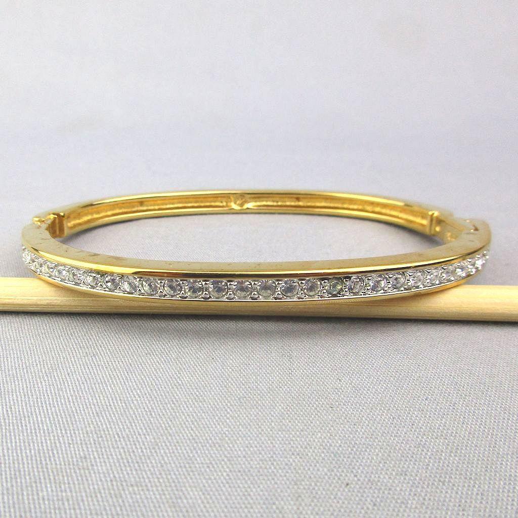 Swarovski Crystal Rhinestone Hinge Bracelet