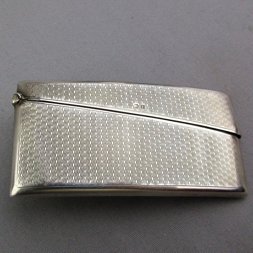Early Victorian Birmingham Sterling Silver Card Case