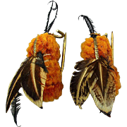 Pair of Old Handmade PIN PETS - Bee Pins - Beeutiful