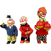 1950s Wind-up Clown Toy Group West Germany Working