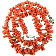 Vintage Branch Coral Necklace w/ 18K Gold Clasp
