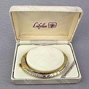 Vintage Crystal Rhinestone Clamper Bracelet in Orig. Box