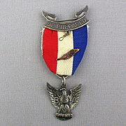 Vintage Sterling Silver BSA Boy Scouts of America Eagle Scout Medal