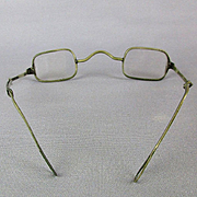 Antique 1800s Eyeglasses Unique Sliding Retractable Arms Wire Rim