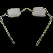Antique 1800s Eyeglasses Unique Sliding Retractable Arms Wire Rim