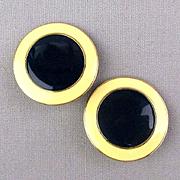 Vintage Enny Monaco Italy Clip Earrings c1970s