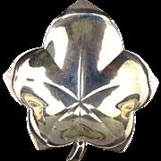 Vintage Tiffany & Co. LEAF Nut Ring Dish Sterling Silver