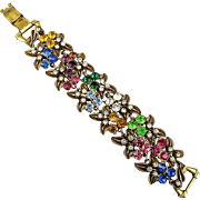 Fabulous FLORENZA Multi-Color Rhinestone Bracelet