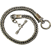 Sterling Silver Herringbone Box Chain Bracelet Unisex