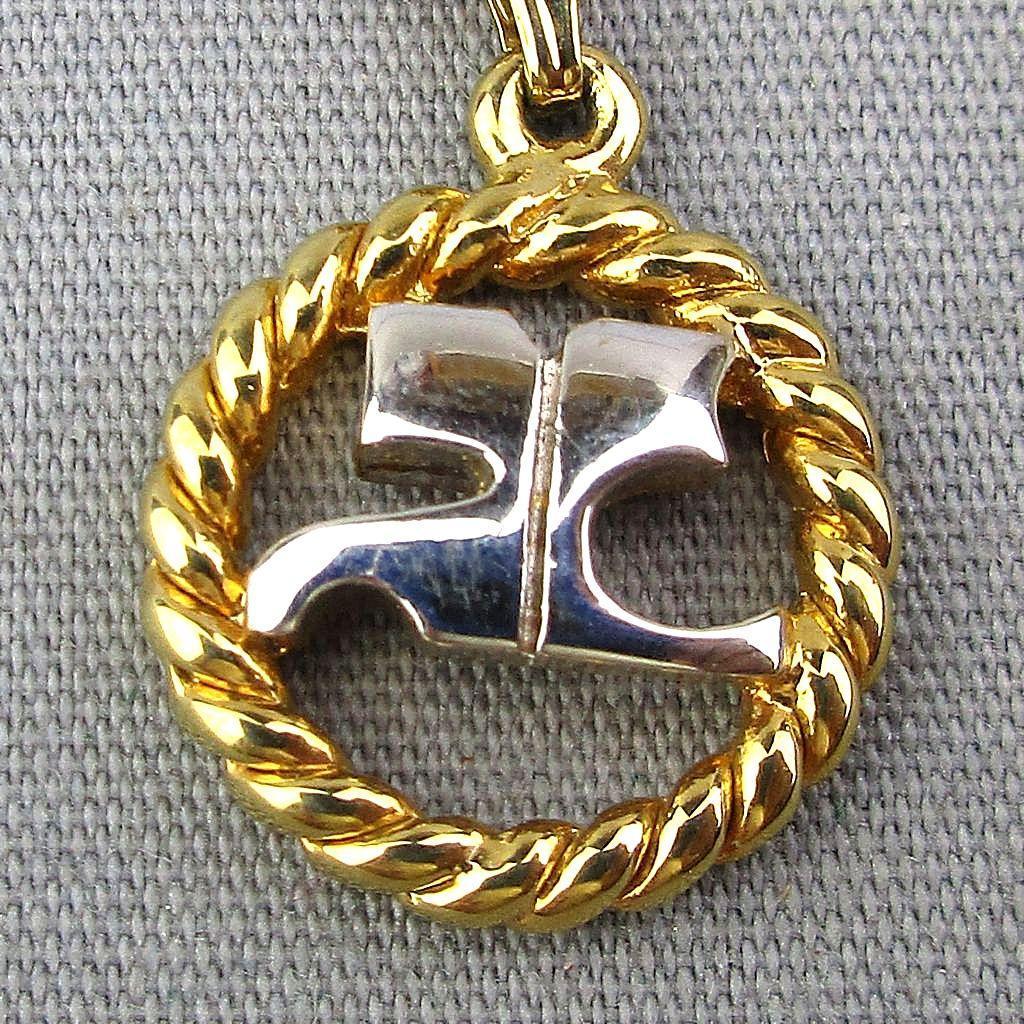 Courreges Paris Designer Pendant Necklace - 1970s Logo