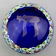 Vintage Murano Hai Chai ~ TO LIFE ~ Art Glass Paperweight Judaica c1970s