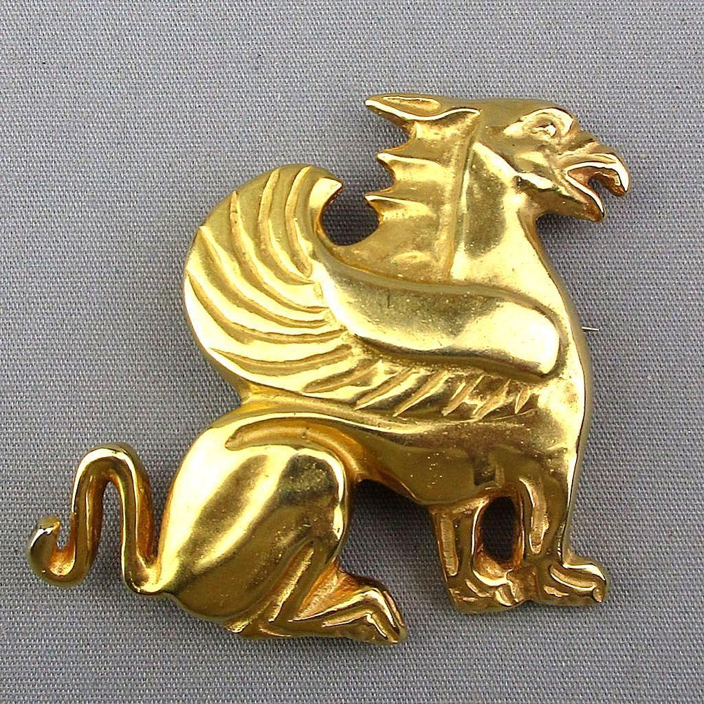 Vintage MMA Metropolitan Museum Art Griffin Pin Pendant