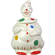 Vintage Hand Painted CLOWN Cookie Jar U.S.A. Ceramic