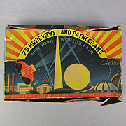 1939 New York World's Fair Movie Views Pathegrams Viewer in Box Art Deco