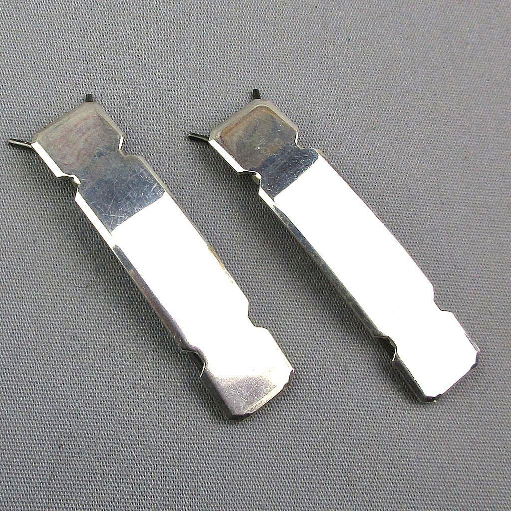 Pair of Sterling Silver Hair Barrettes - Unworn Vintage