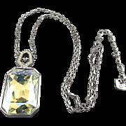 Swarovski Swan Two-Sided Crystal Pendant Necklace