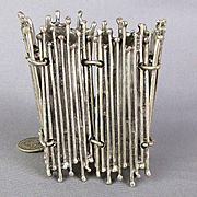 Wide Modernist Picket Fence Bracelet